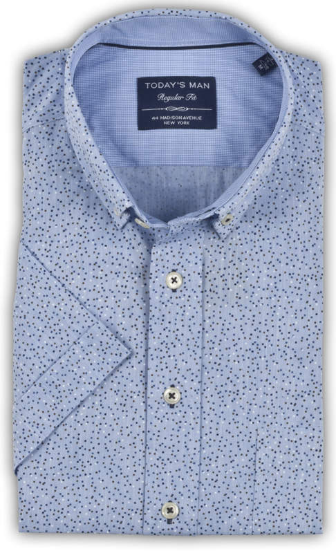 Today's Man Short Sleeved Shirt - Dotted Design