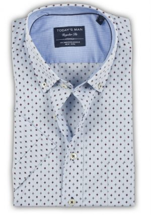 Today's Man Short Sleeved Shirt - Neat Design