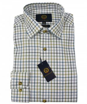 Viyella Brushed Cotton Shirt - Green Check