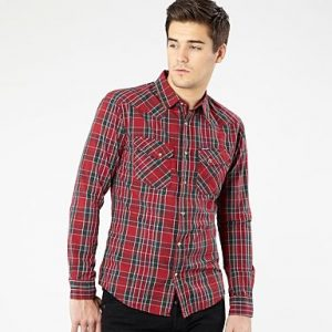 Wrangler Biking Red Western Shirt