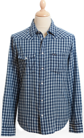Wrangler Blue Gingham Shirt