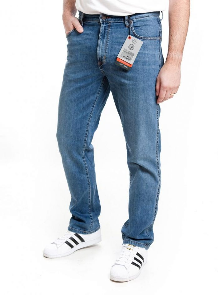 Wrangler Texas Stretch performance Jean - Scale Blue